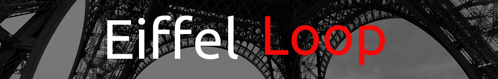 Banner showing base of Eiffel tower